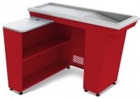 Кассовый бокс КБ-1,5-1Н одинарный накопитель (красный)