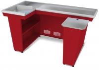 Кассовый бокс КБ-1,9-2Н одинарный накопитель (красный)