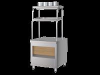 Прилавок приборов столовых с хлебницей ППСХ6