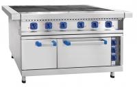 Плита электрическая ЭП-6ЖШ-01, 6 конфорок, КЭТ-0,12, нерж. духовка, 1475x897x860 мм, лицев. нерж.