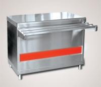 Прилавок для горячих напитков ПГН-70КМ-03 нейтральный стол (без полок, 1500 мм.)