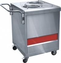 Прилавок  ПТЭ-70КМ(П)-80 для подогрева тарелок (80 тарелок, 2х240 мм., 630 мм.) /вся нерж./