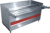 Прилавок тепловой ПВТ-70КМ-02 (тепловой шкаф, тепловентилятор,без полок,1500 мм.)