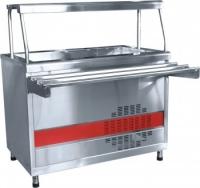 Прилавок холодильный ПВВ(Н)-70КМ-03-НШ вся нерж. с ванной, нейтральный шкаф (1500мм)
