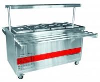 Прилавок холодильный ПВВ(Н)-70ПМ-01-НШ (откр., полка с подсветкой,с г/емкост.,1500 мм.) /вся нерж./