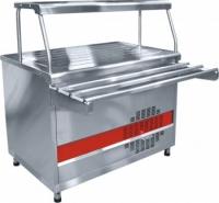 Прилавок холодильный ПВВ(Н)-70КМ-01-НШ (открытый,полка,подсветка, охлаждаемый стол 1500 мм.)