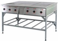 Плита электрическая ПЭ-0,72Н Шесть конфорок, без жарочного шкафа на подставке