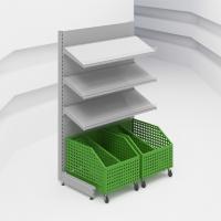 Стеллаж овощной с подкатными контейнерами