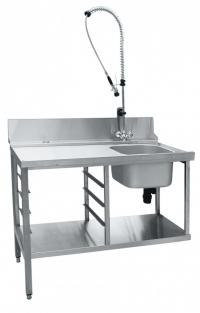 Стол предмоечный СПМП-6-3 Abat для купольных посудомоечных машин