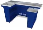 Кассовый бокс КБ-1,9-2Н одинарный накопитель (синий)