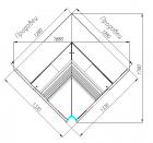Холодильная витрина G120 VM-6 (внутренний угол, динамика) ATRIUM