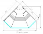 Холодильная витрина G120 VM-5 (внешний угол, динамика) ATRIUM