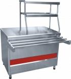 Прилавок для горячих напитков ПГН-70КМ-01 нейтральный стол ( две полки,, 1500 мм.)