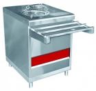Прилавок ПТЭ-70КМ-80 для подогрева тарелок (80 тарелок, 2х240, 630 мм., нерж.)