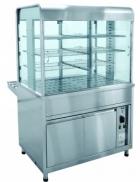 Прилавок-витрина тепловой ПВТ-70КМ (закрытая витрина,1120 мм.)