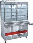Прилавок-витрина холодильный ПВВ(Н)-70КМ-С-01-НШ вся нерж. плоский стол (1500мм)