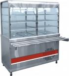 Прилавок-витрина холодильный ПВВ(Н)-70КМ-С-03-НШ вся нерж. с гастроемкостями (1500мм)