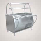 Прилавок холодильный ПВВ(Н)-70М-01-НШ (открытый, две полки,  подсветка,охлажд. ванна h-85мм.,1500 мм.)