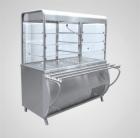 Прилавок-витрина холодильный ПВВ(Н)-70М-С-01-НШ с гастроёмкостями (саладэт закрыт.,1120 мм.)
