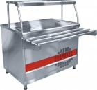 Прилавок  холодильный ПВВ(Н)-70КМ-НШ (открытый, с нейтр. шкафом, одна полка, подсветка,охл. стол, 1120 мм.)