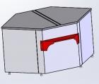 Расчетный стол для витрин Ариель ВС- 3-УВ (угол внутренний)