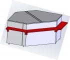 Расчетный стол для витрин Ариель ВС-3-УН (угол наружный)