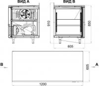 Холодильный стол TM2-GC